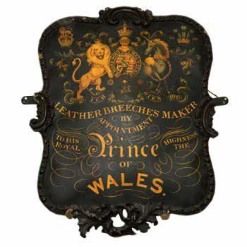 1876 - Receives first Royal warrant from the Prince of Wales, future King Edward VII
