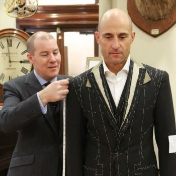 2009 - Actor Mark Strong get the Huntsman bespoke treatment for his role as Hani in Body of Lies